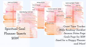 Happy Planner Inserts for the Christian Mom
