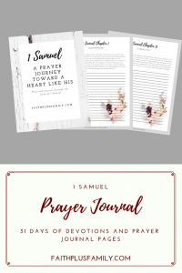 1 Samuel Prayer journal