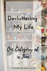 Decluttering My Life One Category at a Time