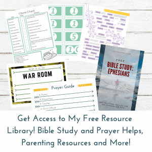 Get Access to My Free Resource Library! Bible Study and Prayer Helps, Parenting Resources and More!