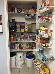 Decluttered Pantry