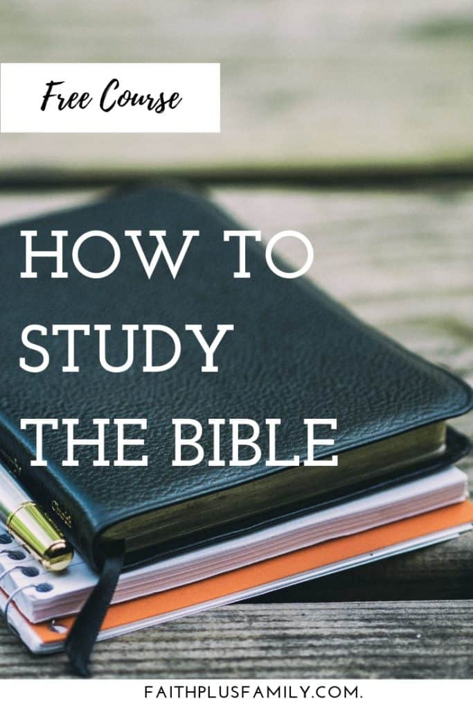 Free course, How to Study the Bible