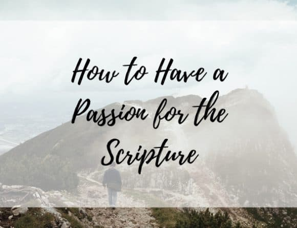 How to have a Passion for the Scripture